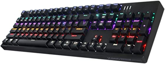 ABKO K660 Optical Switch (Kailh) Mechanical Custom Keyboard Rainbow LED, Quick Swap, Full Water Resistance, NKEY-Rollover (English/Korean Layout) (Black)