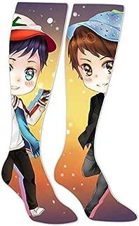 Unisex Skulldead_Dan_And_Phil Long Socks High Socks Knee High Thigh Stockings