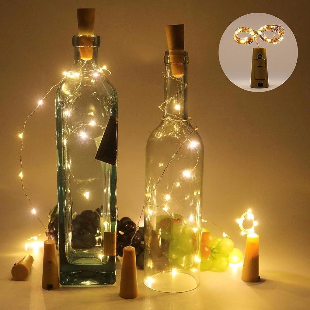 武器危険呪われたelfishjp ワイヤーライト ワインボトルライト コルク型 電池式 パーティー電飾/結婚式 雰囲気を作る 披露宴 DIY飾り 装飾用 LEDイルミネーションライト ストリング ライト 飾りライト おしゃれ 10個セット