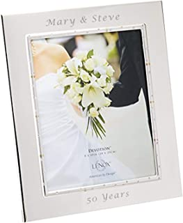 engraved silver photo frame