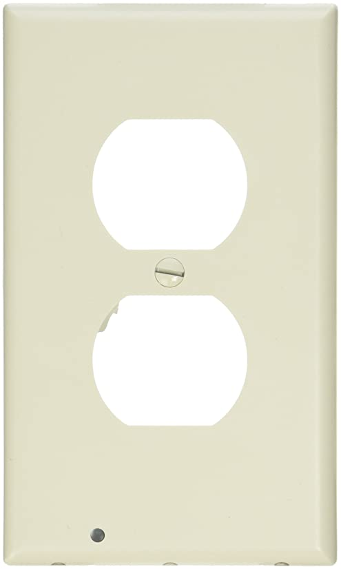 SnapPower Guidelight - Outlet Wall Plate With LED Night Lights - No Batteries Or Wires - Installs In Seconds - (Duplex, Ivory) (1 Pack)
