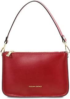 Cassandra Leather clutch handbag Red