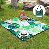 WolfWise Outdoor Warm Fleece Blanket Water Resistant Large Picnic Blanket Machine Washable Folds into a Tote Bag 70'x59'