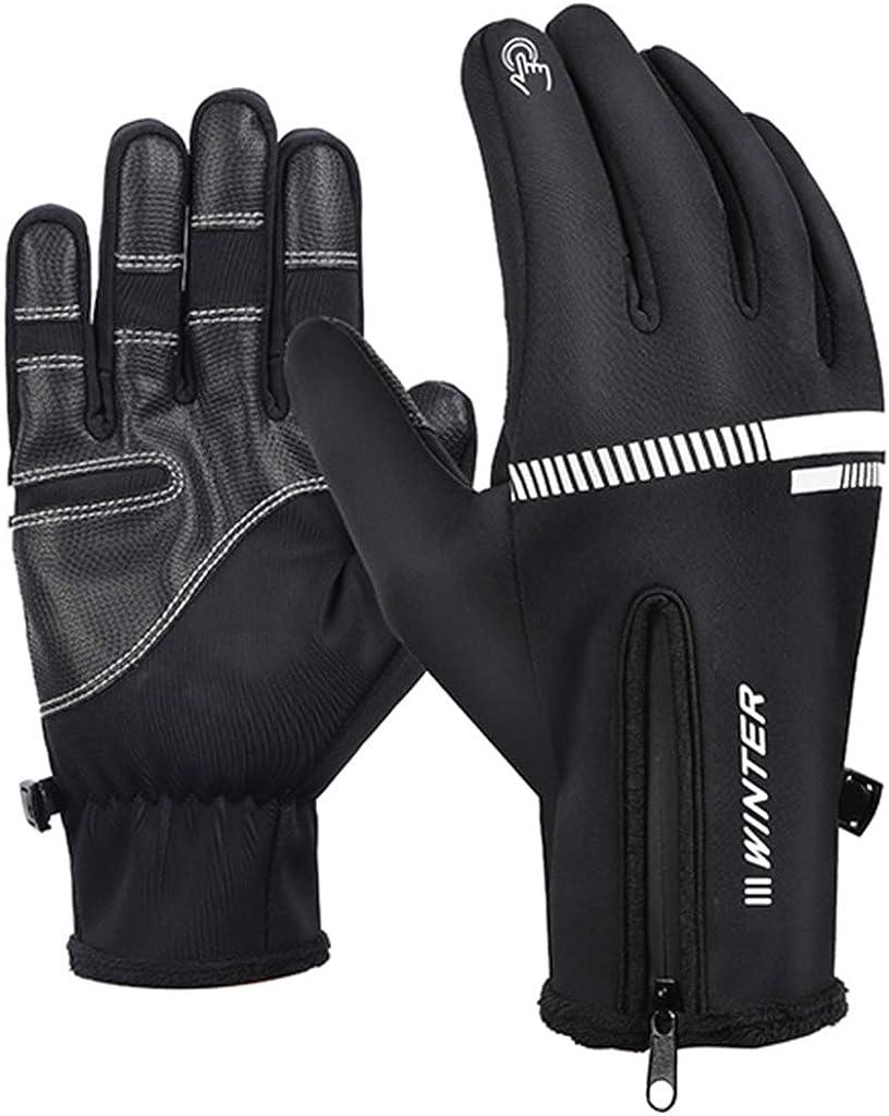 Dsxnklnd Men Women Winter Cycling Gloves Anti-Slip Thermal Full Finger TouchScreen Glove