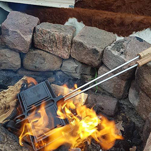 BBQ-Toro Waffeleisen aus Gusseisen bereits eingebrannt