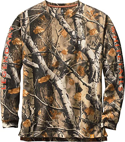 (Large Tall, Big Game Field Camo) - Legendary Whitetails Men's Non-Typical Series Long Sleeve T-Shirt