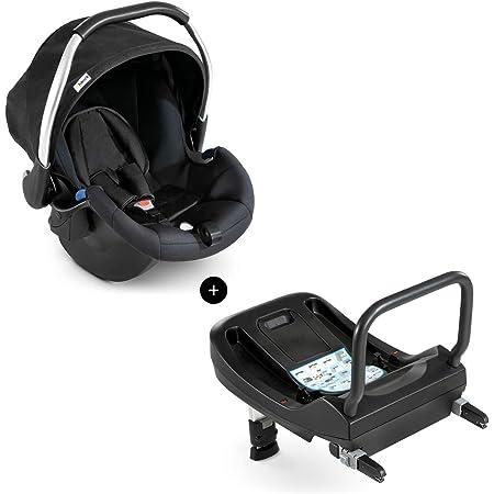 Hauck Babyschale Comfort Fix Inkl Isofix Base Ece Gruppen 0 Ab Geburt Bis 13 Kg Nutzbar Leicht Seitenaufprallschutz Mit Isofix Base Kompatibel Schwarz Black Baby