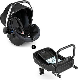 Hauck Babyschale Comfort Fix inkl. Isofix Base/ECE Gruppen 0 ab Geburt bis 13 kg nutzbar/leicht/Seitenaufprallschutz/mit Isofix Base kompatibel/Schwarz Black