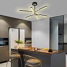 Modern LED Chandeliers,Ganeed 6-Lights Sputnik Pendant Lighting,Flush Mount Ceiling Hanging Lamp Fixture for Bedroom Livin...
