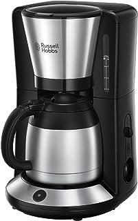 Russell Hobbs-8 Bardak, 1.0L, Otomatik Kapanma, Damla Tıpası, 1100W, Filtre Kahve Makinesi 24020-56 Coffee Macera Paslanma...