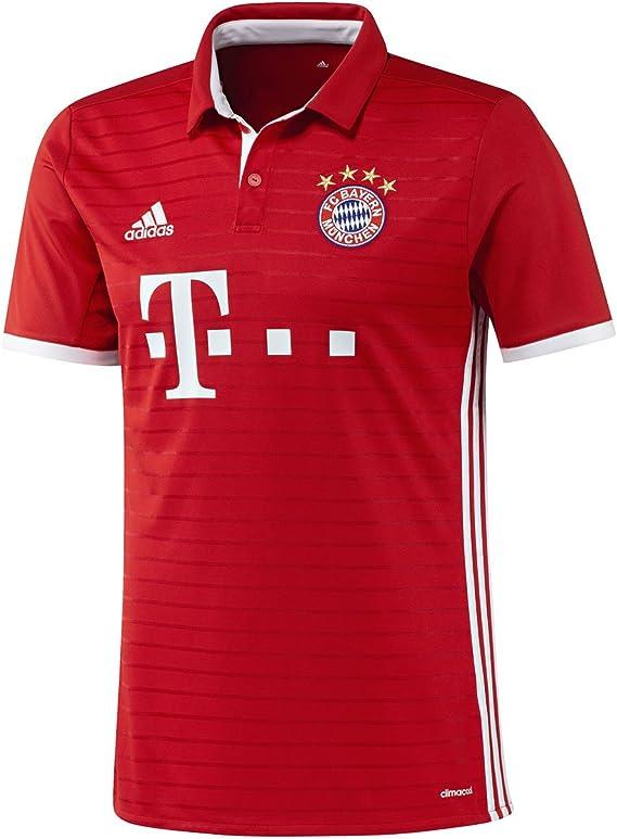 Adidas FC Bayern Munich 2016/17 Short Sleeve Jersey - Adult - True Red/White -