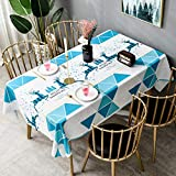 Langchao Mantel impermeable antiquemaduras de PVC desechable sin aceite de mesa de comedor de escritorio para estudiantes, tela nórdica, mesa de café, verde claro, 90*210cm