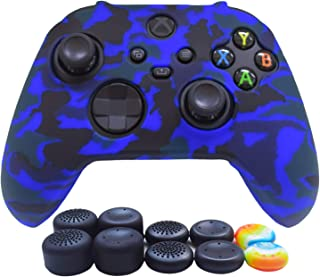 Skin for Xbox Series X/S Controller-Hikfly Silicone Cover Case for Xbox SX Controller Grips,Non-Slip Sleeve for Games Cont...