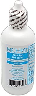 Medi-First Eye Irrigation Solution | 4 Ounce Plastic Bottle