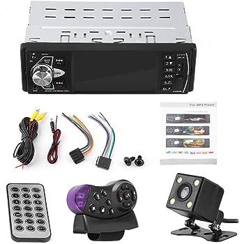 4.1 pulgadas HD Bluetooth Reproductor de video MP5 para autom/óvil Reproductor de m/úsica Radio FM Tel/éfono manos libres AUX TF USB Control remoto inal/ámbrico Reproductor MP5 para coche con c/ámara
