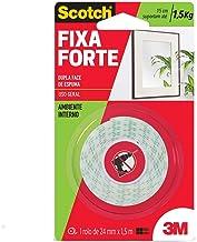 3M, Fixa Forte, Scotch, Fita Dupla Face, Espuma, 24 MM x 1,5 M