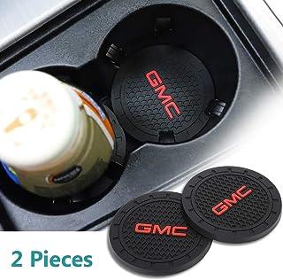 yyyycar 2 Pcs 2.75 inch Car Interior Accessories Anti Slip Cup Holder Mat for GMC All Models (GMC)