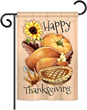 Angeleno Heritage G135076-BO Happy Thanksgiving Feast Fall Impressions Decorative Vertical 33cm x 47cm Double Sided Garden Flag