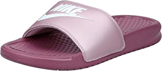 Nike BENASSI JDI, Women's Fashion Sandals, Multicolour (Shadowberry/White-Plum Chalk)