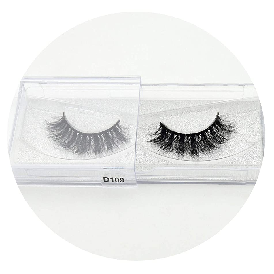 100% handmade 3D eyelashes real mink makeup thick false eyelashes with glitter packing D108,D109