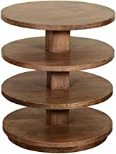 """Crestview Collection CVFNR851 27"""" Wood & Metal Round END Table Furniture"""