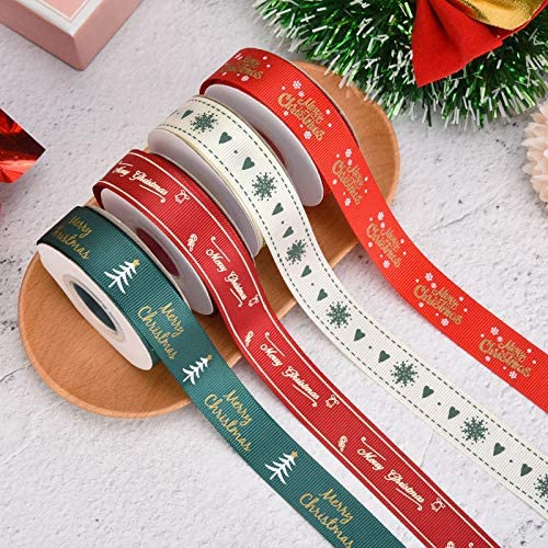 zorpia Luxury 40 Yards 4 5 Inch Christmas Printed G Holiday Wide Free Shipping New Ribbon