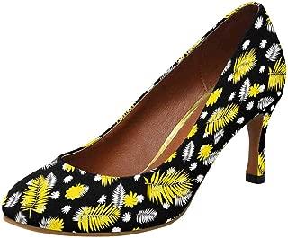 INTERESTPRINT Classic Dress Pumps Soft Walking High Heels US5-US11