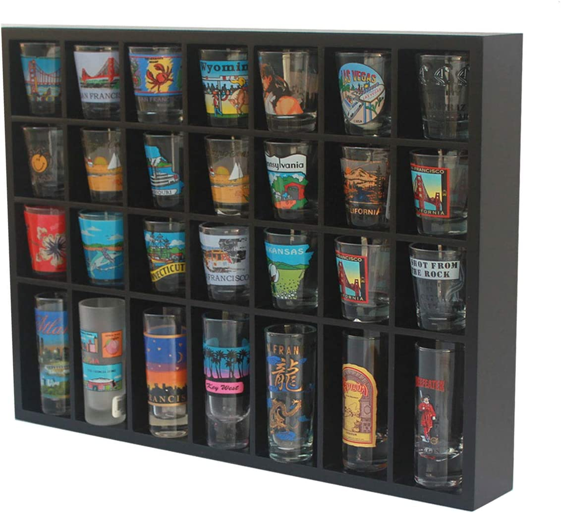 Shot Glass Display 5☆好評 Case 正規逆輸入品 Holder for Hanging Cabinet Small R Wall