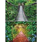 GREAT ART 2er Set XXL Poster – Grünes Paradies –