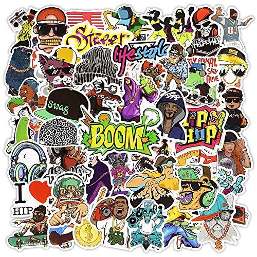 Hip Hop Rock Sticker Graffiti Cool Pegatinas Para Laptop Skateboard Equipaje Coche Calcomanía Niños Juguete Regalos Para Rapero Mc B-Boy Dj 50 Piezas
