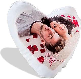 03522e639c LaMAGLIERIA Cuscino Personalizzato a Cuore con la Tua Foto - 40cmx40cm -  Formato Love a Cuore