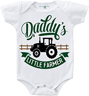 Daddy's Little Farmer Baby Creeper 1Z Infant Suit Romper Short Sleeve