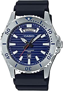 Casio MTD1087-2AV Men's Resin Band Day Date Blue Dial 100M Sports Dive Watch