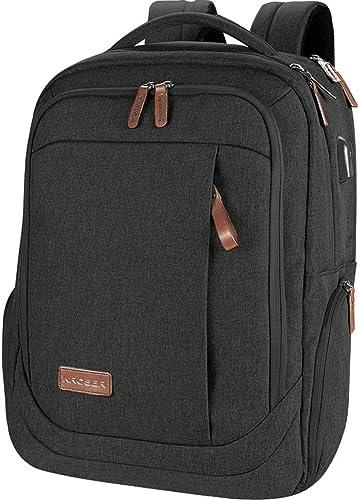 KROSER Laptop Backpack 17.3 Inch Computer Backpack Daypack Water-Repellent Laptop Bag with USB Charging Port for Busi...