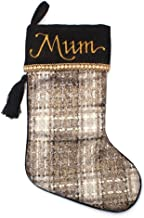 The Christmas Cart Personalised Gifts & Keepsakes Personalised Plaid Christmas Stocking | Luxurious Christmas Décor to Dis...