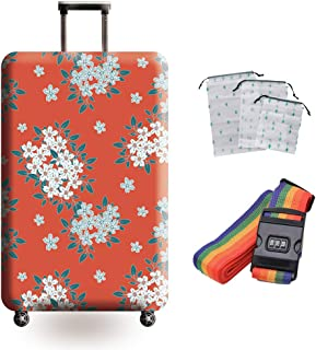 Suitcase Cover Polyester Breathable Anti-Theft Protective Cover Pull Bar Box Anti-Shock Reduction Thickening Wear-Resistan...