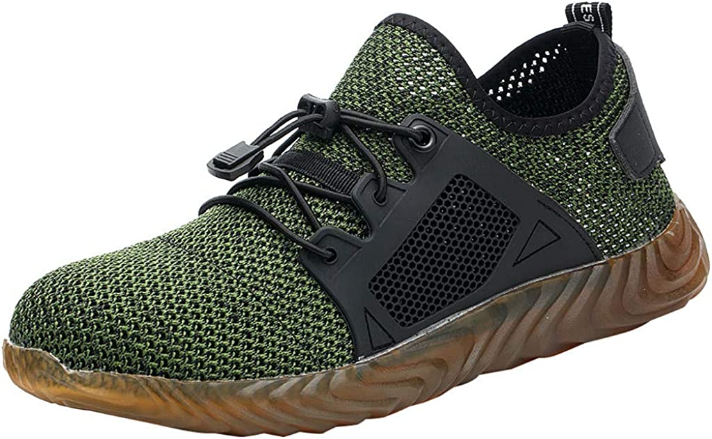 HTHJSCO New 2019 Safety Shoes for Men and Women with Steel Toe Cap|Lightweight Breathable Work Shoes|Puncture-Proof Work Sneakers