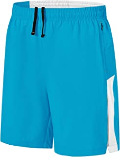 """Gopune Men's 5"""" Running Athletic Shorts Quick Dry Lightweight Workout Gym Shorts with Zipper Pockets"""