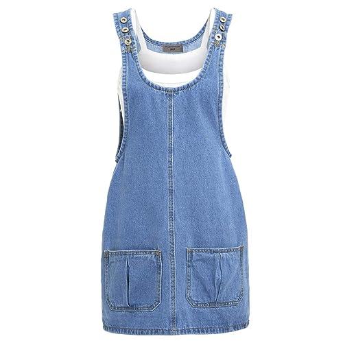 7b42e00da68 SS7 New Women s Denim Pinafore Dress