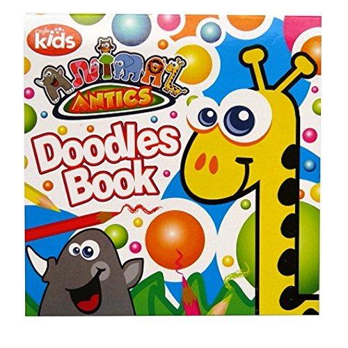 Doodles coloration du livre pour Enfants - Formes et des Spirales - 96 Pages - Taille 203mm x 200mm - Animal Antics