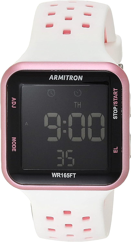 Armitron Sport 40/8417 Reloj de Pulsera de Silicona con cronógrafo Digital