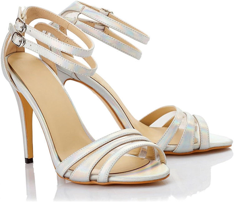 AIWEIYi Womens Cut Out Stilettos High Heel Ankle Strap Dress Sandal