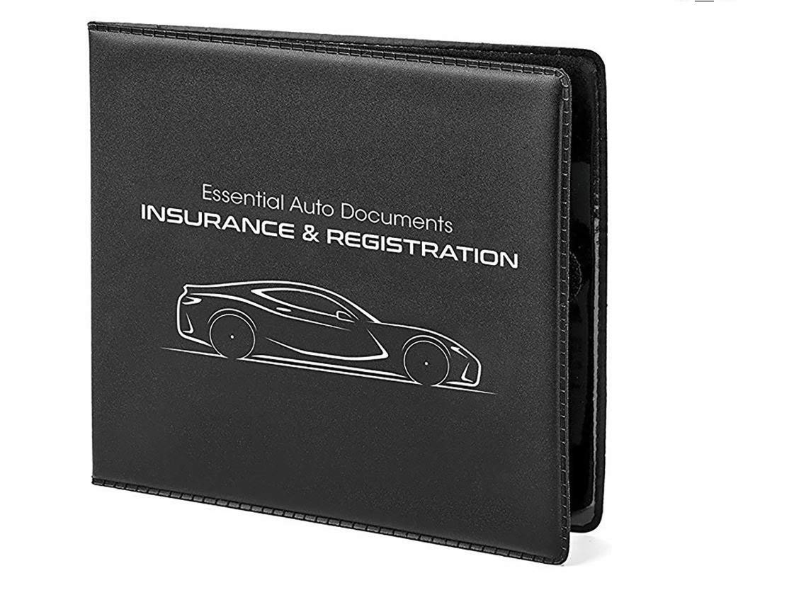 Sterling Car Auto Insurance Registration BLACK Document Wallet Holders Automobile,Motorcycle,Truck,Vinyl ID Holder /& Visor Storage-Strong Closure On Each-Necessary in Every Vehicle-4 Pack Set