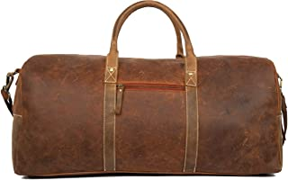 handmade leather duffel