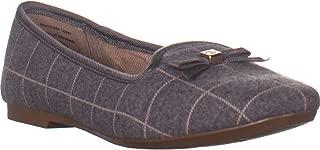 Charter Club CC35 Kimii Slip On Flat Loafers, Grey Plaid