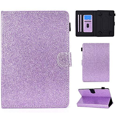 Ancase Tablet PC Glitter Bling Brillantini Custodia per Universale 7.5-8.5 Pollici Disegni Samsung Huawei Apple Lenovo Tablet 8.0 7.9 8.4 Pollici Cover in Pelle Case - Viola