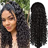 18 Inch (Straighten Easy to 22 Inch) Curly Ponytail Hair Piece 2 Clips With Ponytail Extensions Natural Black Color Ponytail Hair Extensions 138g/Piece Deep Curly Drawstring Ponytail