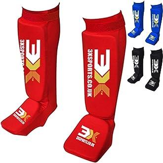 3X Professional Choice Boxeo MMA Prot/ège Tibia Pied Muay Thai Kickboxing KravMagaEntra/înement Arts Martiaux Shin Combat Training/…