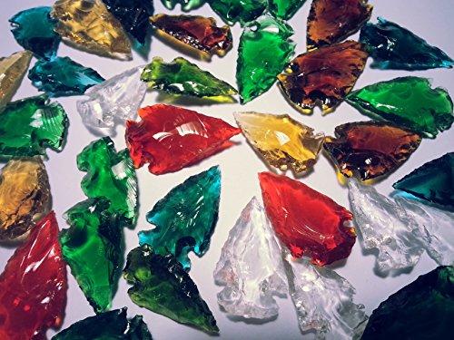 100 Puntas de Flecha de Cristal Multicolor.