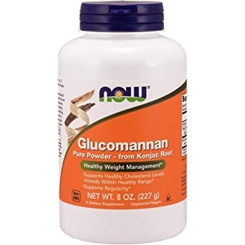 NOW Supplements, Glucomannan (Amorphophallus konjac) Pure Powder, Supports Regularity*, Healthy Weight Management*, 8-Ounce